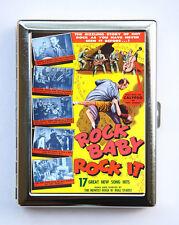 Rock Baby Rock it Case Wallet Business Card Holder rockabilly rock n roll retro