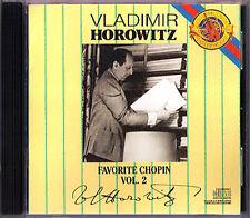 Vladimir Horowitz: favorite Chopin II sonata 2 Polonaise-fantasia trecce CBS CD