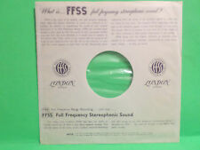 """LONDON GREAT BRITAIN FFSS RECORDS RECORD ALBUM 12"""" INNER SLEEVE ONLY NO RECORD"""