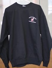 Racquetball Sweater 50% Preshrunk Cotton, Polyester. Mens Size Large. Black