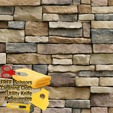 3D Stone Rock Wallpaper Background Modern Vinyl Film Sticker Self-adhesive Stack