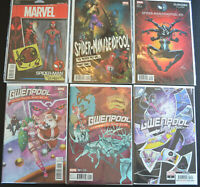 6-Book GWENPOOL DEADPOOL VARIANT LOT HOLIDAY SPECIAL #1, SPIDER-MAN #1 15 21 NM+