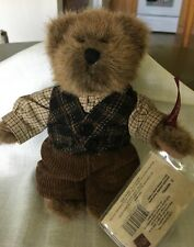 "Russ Vintage Edition, 6"" bear dressed in cords, vest, long sleeved shirt. Cute"