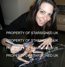 Linsey Dawn McKenzie SIGNED 10x8 PHOTO GLAMOUR modello & Adulto Star del Cinema COA