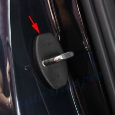 4X Black ABS Vehicle Door Lock Protector Guard Cover Shield For VW Audi Porsche