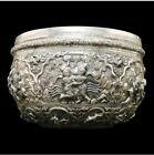 Solid Silver 2433 grams SCRAP  Burmese Bowl Rare MELT VALUE