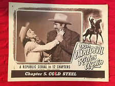 Don Daredevil Rides Again1951 Republic serial lobbycard Aline Towne Roy Barcroft