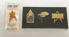 Star Trek 25th Anniversary 4 Collectible Commemorative Pins 1991 NEW