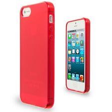 Funda carcasa roja lisa color rojo de tpu gel silicona para Apple iPhone 5/5S/SE