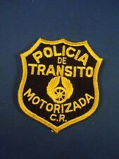 Vintage Policia de Transito Motorizada CR Police Embroidered Sew On Patch