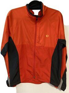 Pearl Izumi Jacket Lightweight Full Zip Cycling Adult Med Orange Polyester Lycra