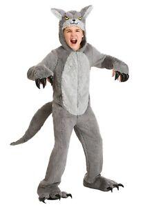 Child Kids Grey Big Bad Wolf Coyote Dog Costume Size S XL (Used)