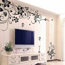 Vinyl Flowers Vine Decal DIY Removable Living Room Wall House Decoration Sticker