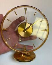 Art Deco~ImHof Clear Glass~Gilded Bronze~15JWL~Swiss lever escapement Clock~runs