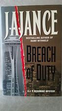 Breach of Duty by J. A. Jance (1999, Hardcover) - 1st Edition  - Signed