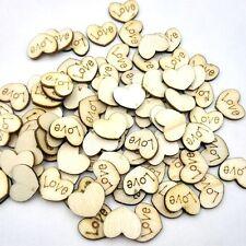100pc Mini Wooden Love Heart Craft Embellishment Wedding Decoration Favours