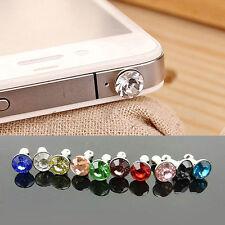 100PCS Diamond Gem Anti Dustproof Plug Protective Cap For iPod iPhone Sony HTC