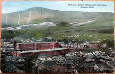 1915 Postcard: Berkshire Cotton Mills & Mt. Greylock - Adams, Massachusetts MA