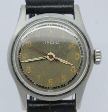 VINTAGE Lemania Mens 32mm Steel Manual Watch = Fantastic Original Dial & Hands
