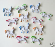 12 Plastic Unicorn Figures Princess Kid Party Goody Loot Bag Filler Favor Supply