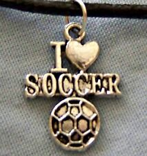 I _ LOVE _ SOCCER  ~ ~ PENDANT  ~  NECKLACE  -- (GREAT_GIFT)