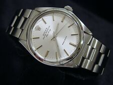 Rolex Air King Mens Stainless Steel Precision Watch Oyster Band Silver Dial 5500