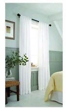 NEW One (1) Threshold Whie Farrah Window Curtain Panel 54x84