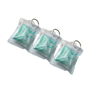 100pcs CPR Mask One-way Valve Emergency First Aid Cpr Keychain Face Shield AED