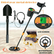 Lcd Metal Detector Deep Sensitive Gold Digger Hunters Waterproof Coil Adjustable