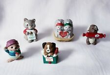Lot of 5 Hallmark Merry Miniatures Christmas Winter Includes Puppy in Gift