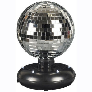 Battery Operated LED Dance Disco Lamp Party DJ Ball Rotating Mirrored Light