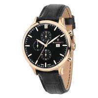Maserati Men's Watch Attrazione Rose Gold Case Black Dial Strap R8871626004