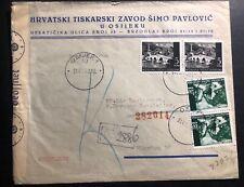 1942 Osijek Croatia Germany Commercial Censored cover To Munich