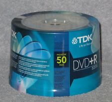 New TDK DVD+R 50 pack 16x 4.7gb Spindle Model DVD+R47FC50
