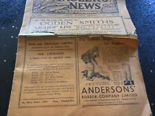 Anglers News And Sea Fishers Journal Dated 1936