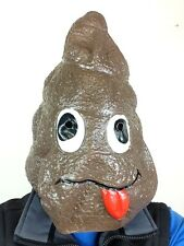 Doo Doo Head Mask Latex Poo Costume Funny Poop Prank Joke Mr Hankey S**thead