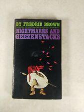 NIGHTMARES AND GEEZENSTACKS By Fredric Brown Vintage 1961 1st Paperback SF9