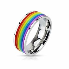 Unbranded Rubber Stainless Steel Costume Rings