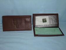 CHICAGO BULLS    Leather Checkbook    NEW    dark brown