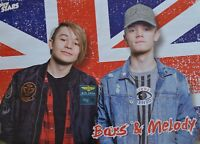 BARS AND MELODY - A2 Poster (XL - 42 x 55 cm) - Clippings Fan Sammlung NEU