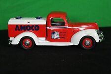 Die-Cast Collectible 1940 Ford Amoco Tanker Truck White Red Display Fuel Gas