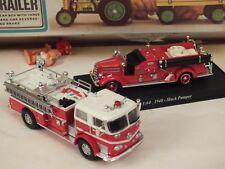 2 camion Vigili del Fuoco USA     2 fire truck  1/64