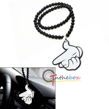 Joking Micky Hand Gun Shooting Rearview Mirror Hanging Charm Dangling Pendant