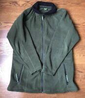 Cabelas Green Heavy Fleece Polartec Jacket with Full Zipper Mens Size Medium