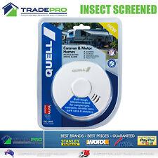 Smoke Alarm Fire Detector Quell® PRO Sealed Bug Screen Bonus 9V Caravan & RV
