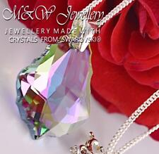 925 SILVER NECKLACE PENDANT BAROQUE PARADISE SHINE 22MM CRYSTALS FROM SWAROVSKI®
