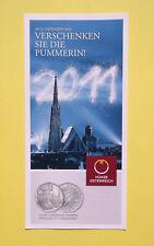 """Folder Flyer zur 5€ Silber Neujahrsmünze 2011 """"Die Pummerin"""" Österreich"""
