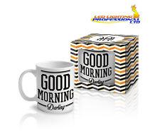 """Coffee Tea Mug """"GOOD MORNING DARLING"""" Funny Design Novelty Christmas Gift -300ml"""