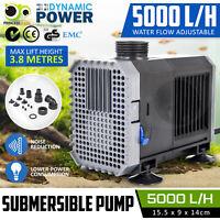 Submersible Aqua Aquarium Fountain Pond Marine Water Pump Fish Tank 5000L/H