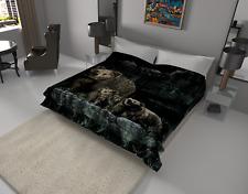 SOLARON Thick Warm Fine Polyester Mink Plush Bears Heavy Weight Blanket